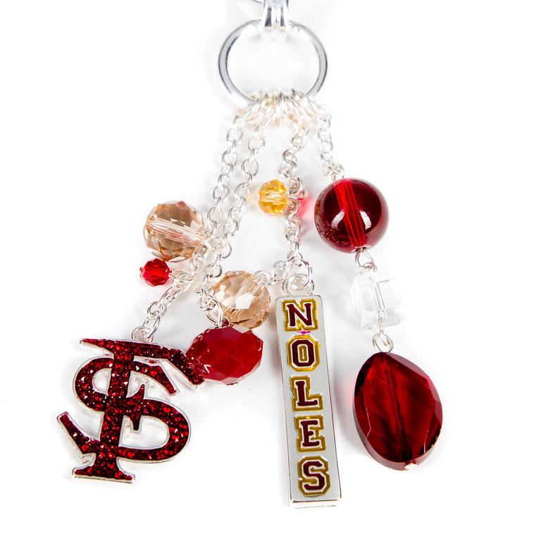 Charm Necklace - Seminoles-seminoles, charm necklace, florida, football, jacksonville florida