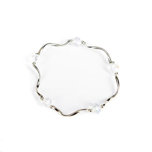 Silver Bangle - Clear-jewelry, bracelet, bangle