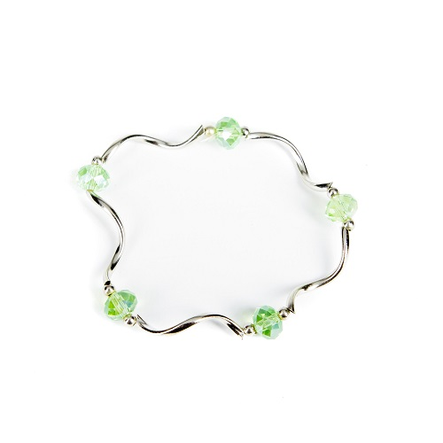 Silver Bangle - Green-bracelet, jewelry, bangle