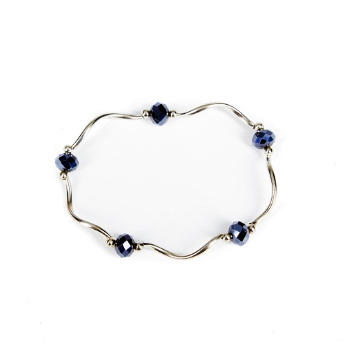 Silver Bangle - Midnight Blue-jewelry, bracelet, bangle