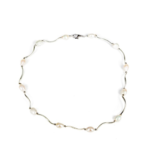 Silver Necklace - Pearl-necklace, pearl, jewelry