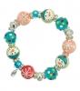 Snowy Friends Bracelet-handpainted, glass beads, snowman, winter, bracelet