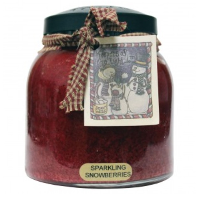 A Cheerful Giver Sparkling Snowberries Papa Jar Candle-a cheerful giver, sparkling snowberries, papa jar, candle