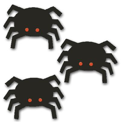 Magnetic Spiders, 3-pack-Rodea, Carol Rodea, Magnet, Magnetic Photo Display