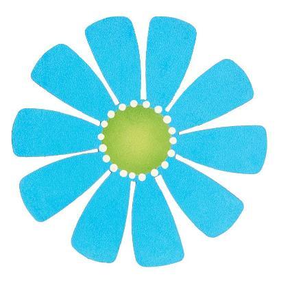 Magnetic Large Flower, Teal-roeda studio, magnet, photo, display