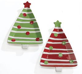 Burton & Burton, Tree-Shaped Plate-grogan, burton, plate, christmas