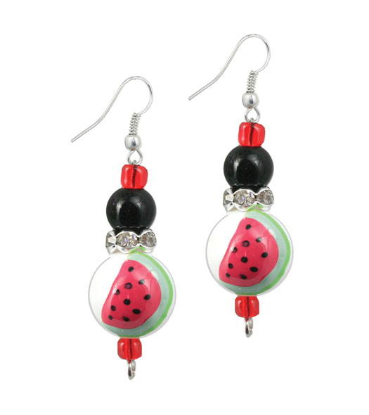 Fresh Watermelon Earrings-Jewelry